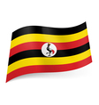 State flag of Uganda vector image