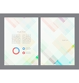 Abstract modern flyer brochure design vector image