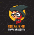 Halloween Trick or Treat Witch Costume vector image