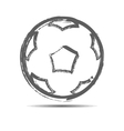 The soccerball vector image