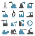 Industrial icons Vector Image
