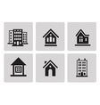 Houses icon set vector image