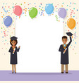 african graduation students celebration vector image