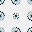 cogwheel icon sign Seamless pattern with geometric vector image