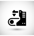 Conveyor equipment icon vector image