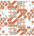 Red and green patchwork pattern vector image