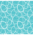 Seamless easter pattern with decorated eggs vector image