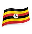 State flag of Uganda vector image
