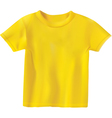 yellow t-shirt design template vector image