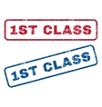 1st Class Rubber Stamps vector image