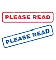 Please Read Rubber Stamps vector image