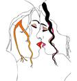 A sweet kiss vector image