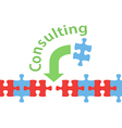 Consulting solution puzzle help answer vector image