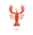 Crayfish abstract isolated vector image vector image