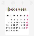 calendar 2015 december vector image vector image
