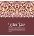Elegant Indian ornamentation on a dark background vector image