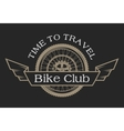 Vintage emblem on the topic cycling club vector image