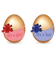 two abstract gift eggs vector image vector image