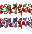 border with traditional christmas symbols vector image
