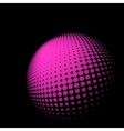 Abstract halftone sphere vector image