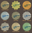 Vintage sale stickers and labels vector image
