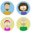 Cartoon user profile picture icon set vector image