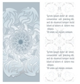 Hand drawn ornamental mandala with place vector image