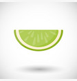 lime segment flat icon vector image