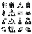 Management icons vector image
