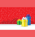 presents on a snowy background vector image