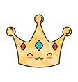 queen crown kawaii character vector image