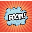boom bomb cloud striped explosion icon vector image