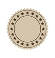 brown seal stamp vector image