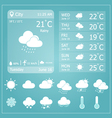 Weather Forecast Interface Template vector image