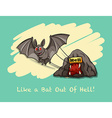 Like a bat out of hell expression vector image