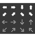 Arrow icon set 1 monochrome vector image