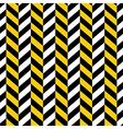 seamless pattern yellow black geometric vector image vector image