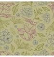 floral botany pattern vector image vector image
