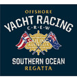 australia offshore yacht racing vector image