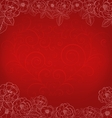 Background with roses and heart vector image