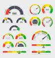 credit score indicators with color levels from vector image