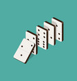 domino effect isometric vector image