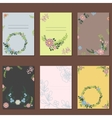 Floral wreath card decoration vector image