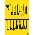 Litchen Utensils vector image