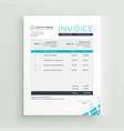 modern invoice template design vector image