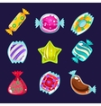 Set of colorful glossy candies vector image