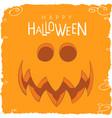 surprised pumpkin face for halloween vector image