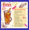 tea spices recipe vector image
