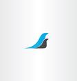 two birds logo design element vector image