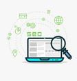 web analytics and seo vector image